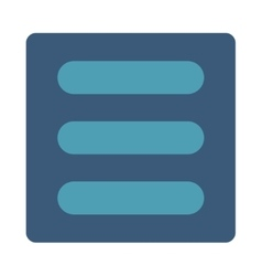 Stack flat cyan and blue colors rounded button vector