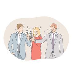 success teamwork business development concept vector image