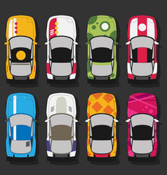 Super sports cars set vector