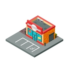 Supermarket and store stuff isometric vector image
