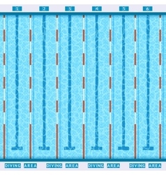 swimming pool top view flat pictograph vector image