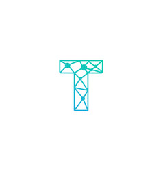 T letter network logo icon design vector