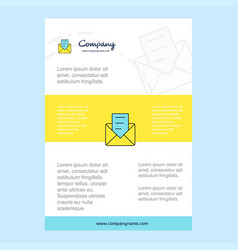 template layout for message comany profile annual vector image