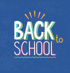 text sign -back to school vector image
