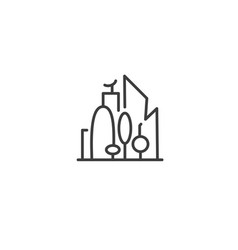 urban and city element icon - skyscrapers vector image