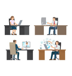 video conference of people vector image