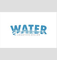 water logo swirl drop symbol aqua icon sign vector image