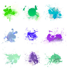 watercolors paint splat vector image