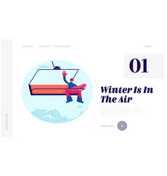 Winter vacations activity concept for website vector