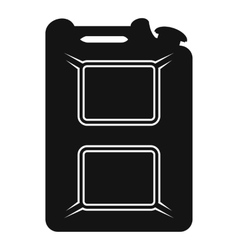 Black canister flat icon vector image vector image