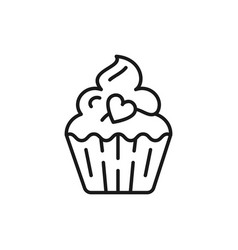 cupcake icon birthday icon symbol of holiday and vector image vector image