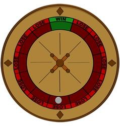 Gambling odds vector image vector image