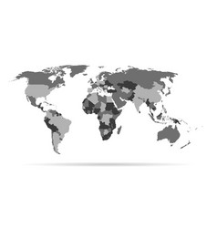 infographic template world map with vector image vector image