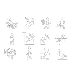 people line icons in a variety of common vector image