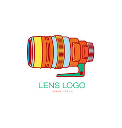 photo camera lens icon isolated vector image vector image