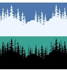 Seamless fir trees silhouettes vector
