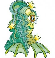 zodiac Aquarius sign vector image