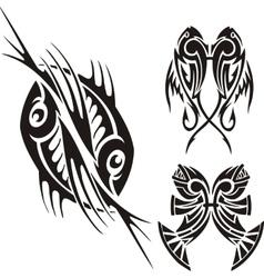 Zodiac Signs - fish Vinyl-ready set vector image
