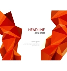 Abstract template design brochure Web vector image