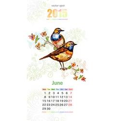 calendar for 2015 june vector image vector image