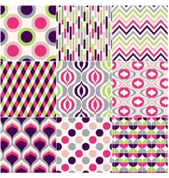 Colorful seamless geometric pattern vector