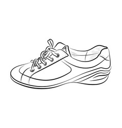 hand drawn sketch of sport shoes sneakers for vector image