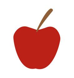 red apple fruit fresh nutrient vitamins food vector image