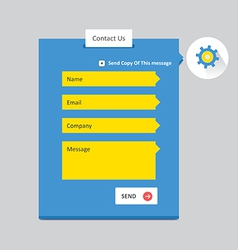 Contact Form 5 vector image