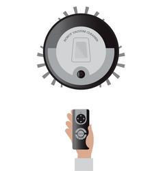 remote control of robotic vacuum cleaner vector image