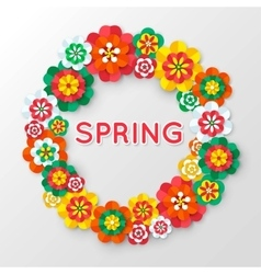 Spring Cutout Paper Flowers Spring Banner vector image vector image