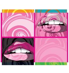 beautiful lips vector image vector image
