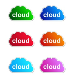 Cloud label vector image vector image