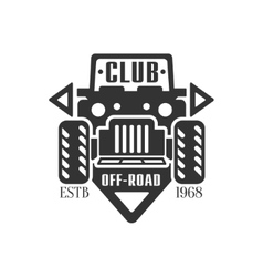 Offroader extreme club and rental black and white vector
