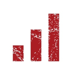 Red grunge graph logo vector image