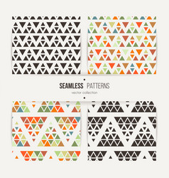 seamless set of triangle halftone gradient vector image