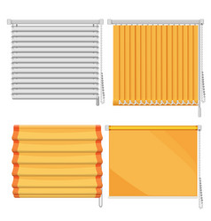 Set of horizontal and vertical window blinds vector