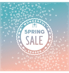Spring SALE label design vector image vector image