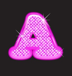 A letter pink bling vector