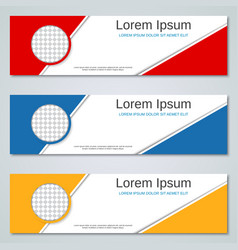 abstract colorful banners templates vector image vector image