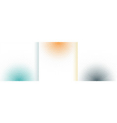 abstract halftone white background set in three vector image