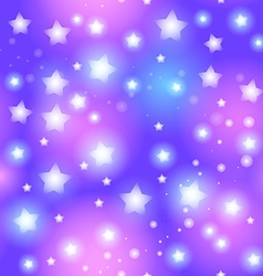 Abstract seamless pattern with star on blue vector image