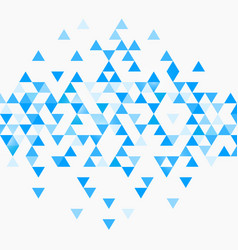 abstract triangle blue background vector image