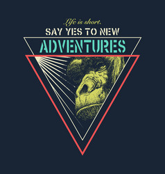 Adventure graphic with a scary skull vector