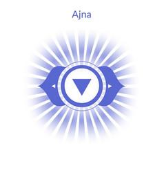 ajna chakra vector image