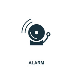 alarm icon premium style design from security vector image