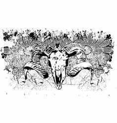 Aniaml skull background illustration vector