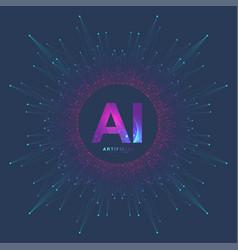 artificial intelligence logo vector image