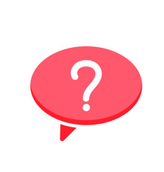 Ask bubble chat dialogue message questionmark vector