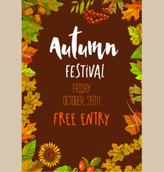 Autumn festival on friday october 28th with free vector