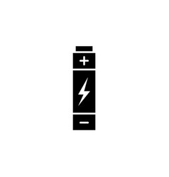 battery lightning icon on white background can vector image